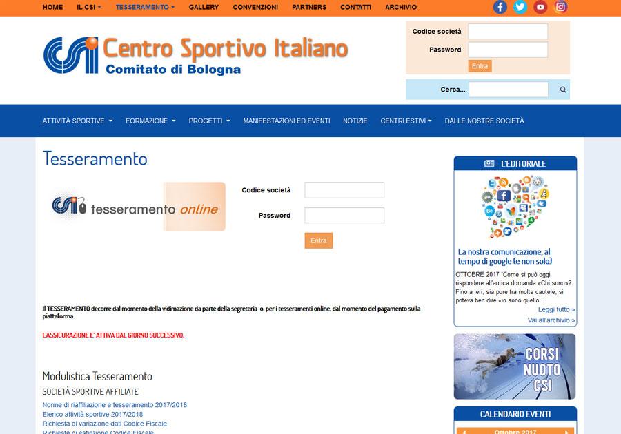 Anche CSI Bologna si rinnova su web 949300c1108c8